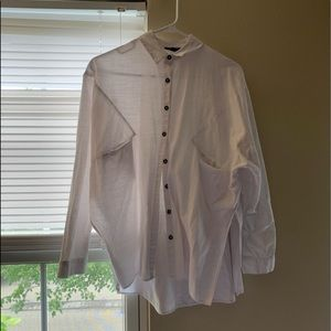 White long sleeve button up!